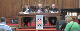A speaker addressing Synod