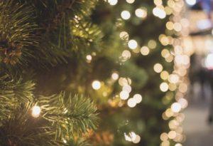 A blurred Christmas Tree
