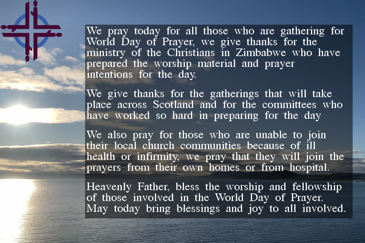 The prayer contained in the article, overlaid on a photo of a beach
